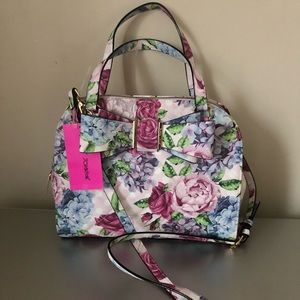Betsey Johnson Floral Bow Dome Satchel